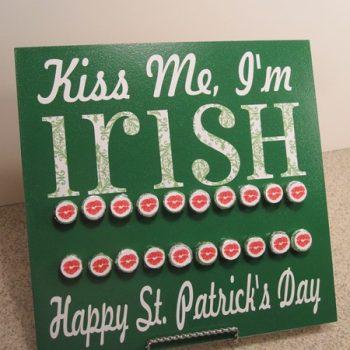 Kiss Me I'm Irish Countdown Board