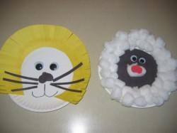 March Lion and Lamb Craft