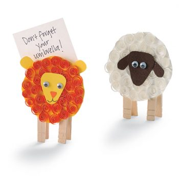 Lion & Lamb Note Holders