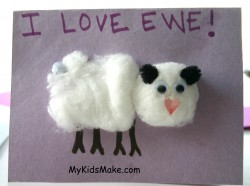 """I Love Ewe"" Cards"