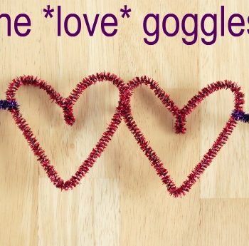Pipe Cleaner Love Goggles