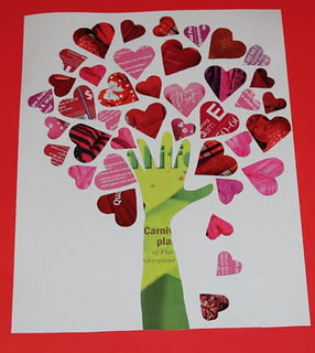 Magazine Tree of Hearts