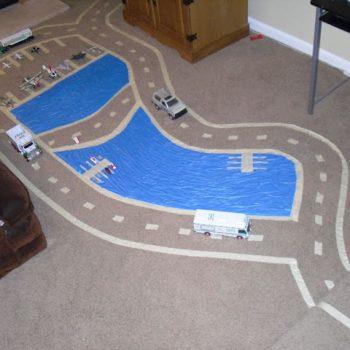 Masking Tape Race Track