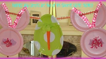 Paper Plate Bunny Banner