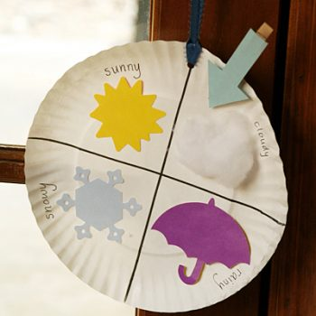 Paper Plate Weather Chart