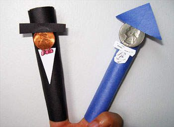 President's Day Paper Finger Puppets