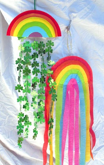 rainbow mobile for St Patrick's Day