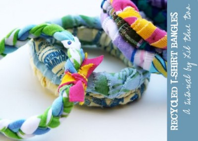 Recycled T-Shirt Bangles
