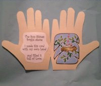 Spring Hand Print Card