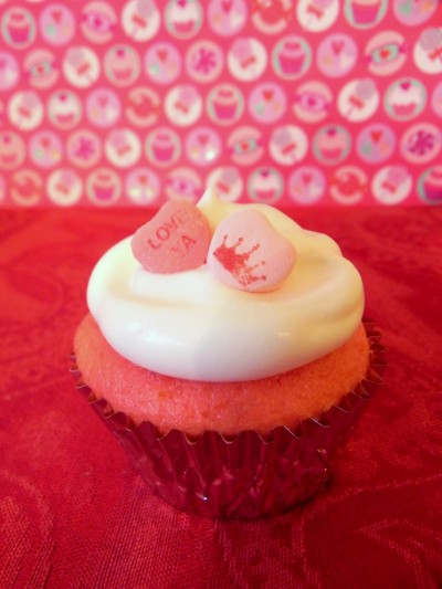 3-Ingredient Valentine Cupcakes