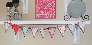Valentine's Day Pennant
