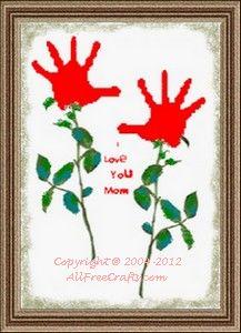 Valentine Handprint Flower Scroll