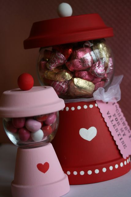 Easter Candy: Valentine's Day Gumball Machine