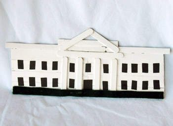 Craft Stick White House