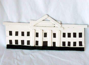 Craft Stick White House