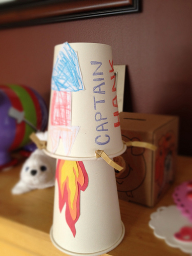 Jumping Rocket Cups Fun Family Crafts