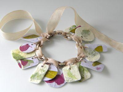 Paper & Mod Podge Charm Bracelet