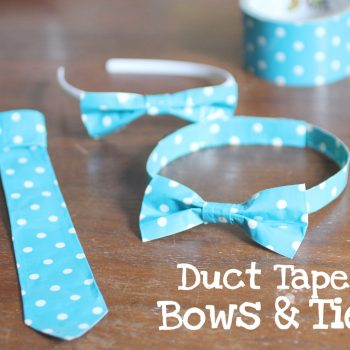 Duct Tape Bows and Ties