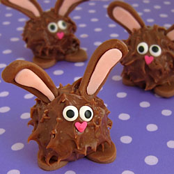 Chubby Chocolate Bunnies