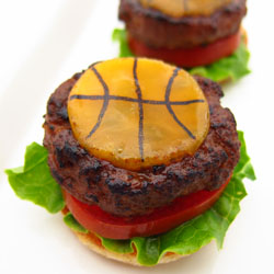 Mini Basketball Cheeseburgers