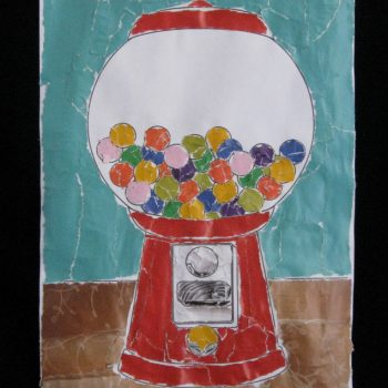 Gumball Machine Magazine Mosaic