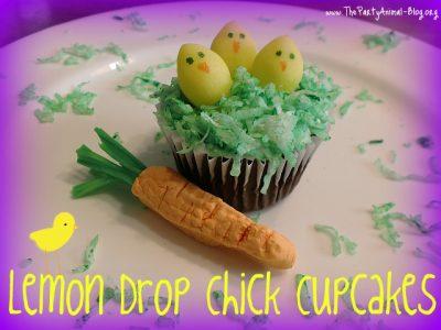 Lemon Drop Chick Cupcakes