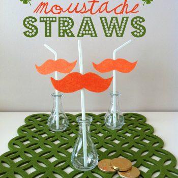 Leprechaun Moustache Straws