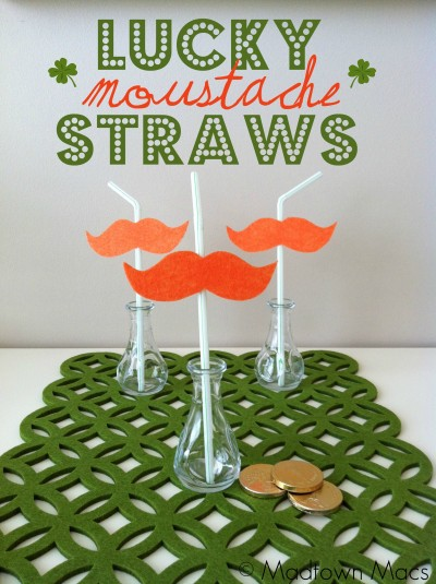 Leprechaun Moustache Straws