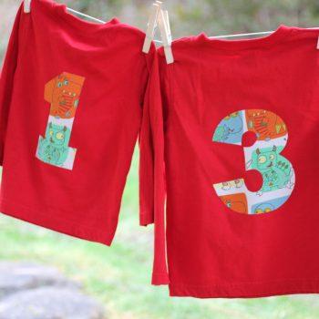 No-Sew Birthday Number Shirt