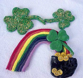 Salt Dough Rainbows and Shamrocks