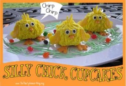 Silly Chick Cupcakes