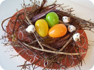 Spring Twig Nest Centerpiece