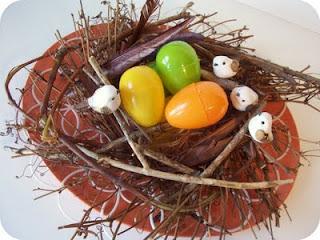 Spring Twig Nest Centerpiece