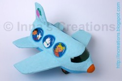 Papier-Mache Water Bottle Airplane