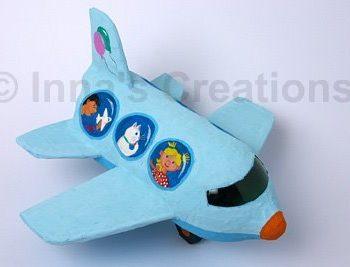 Paper Mache Water Bottle Airplane