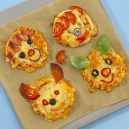 Animal Face Pizzas