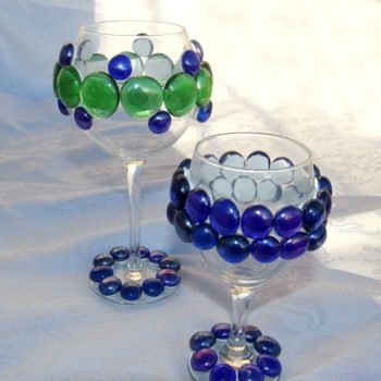 Bejeweled Wine Glasses