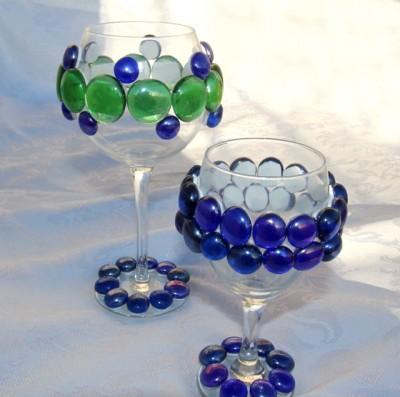 Bejeweled Wine Glasses