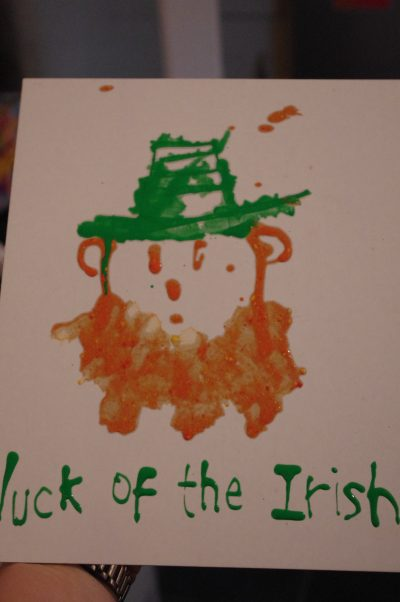 Painting Leprechauns with Straws