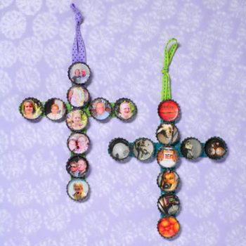 Bottle Cap Crosses