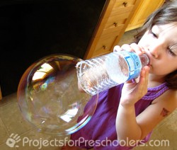 Water Bottle Bubble Fun