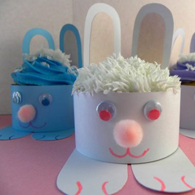 Easter Bunny Cupcake Wrappers