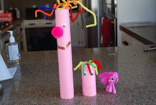 Cardboard Tube My Little Ponies