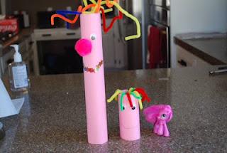 Cardboard Tube My Little Ponies