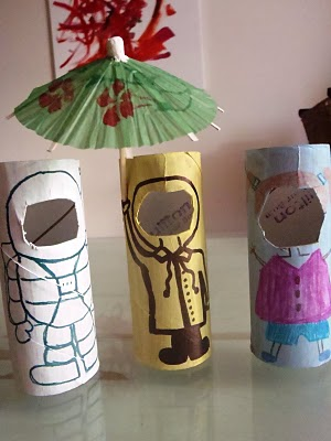 Changing Faces Cardboard Tube Dolls