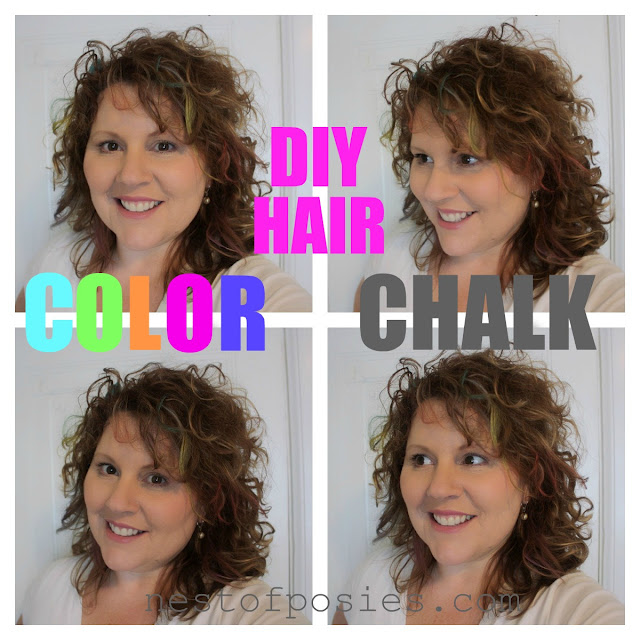 Color Your Hair with Chalk