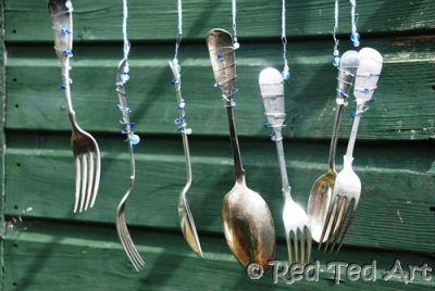Cutlery wind chimes fun family crafts for How to make a windchime out of silverware