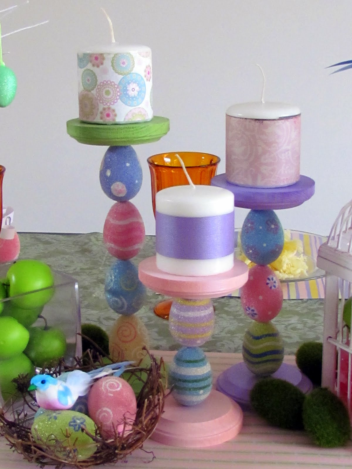 Easter Egg Candle Holders Fun Family Crafts