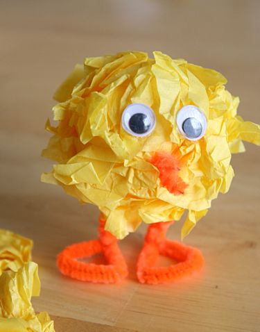 Tissue Paper Easter Chicks Fun Family Crafts