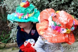 Newspaper Easter Bonnets